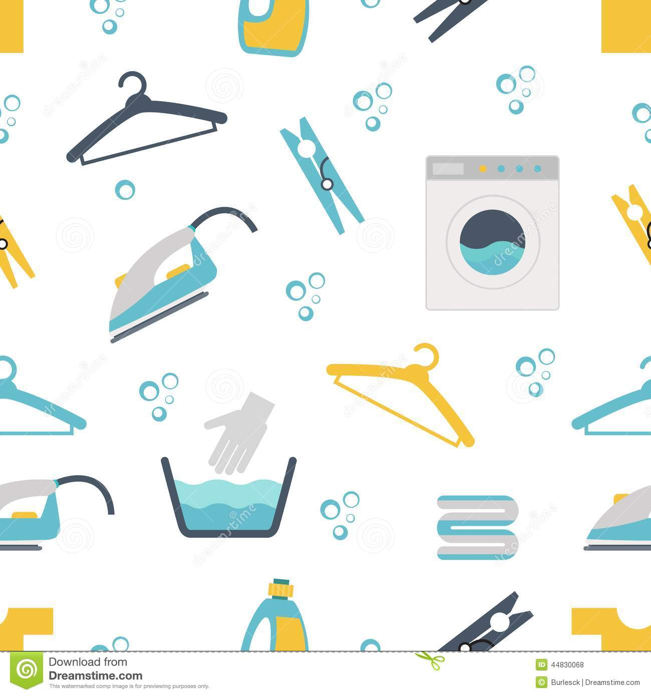 Laundry Themed Graphics Stock Vector Image 44830068