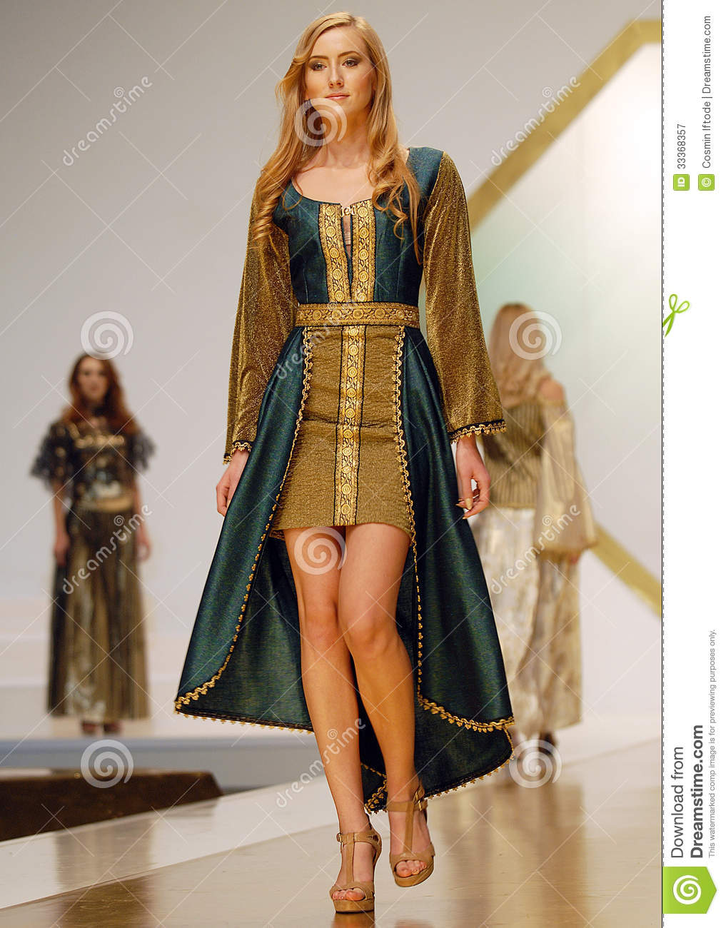 Laura Olteanu Collection on Catwalk at Bucharest Fashion Week Show