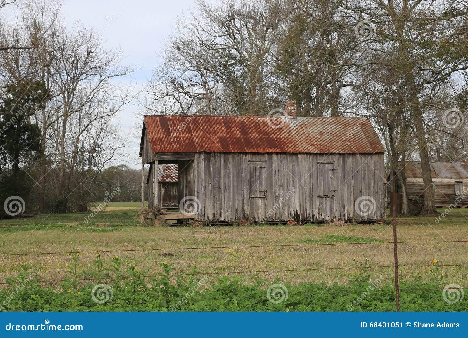 Laurel Valley Plantation stock image. Image of cabin ...