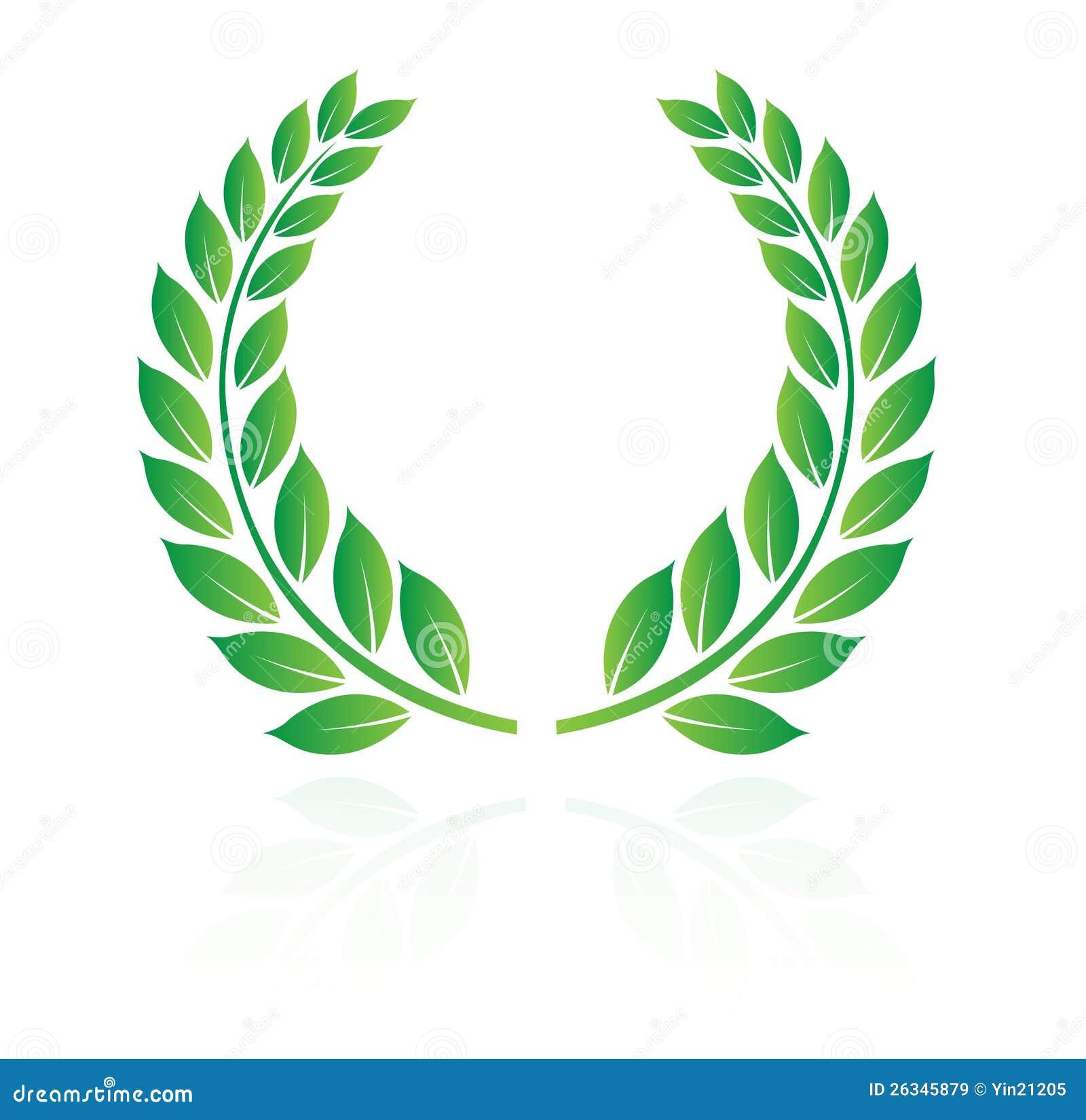 Mainline Art And Design : Laurel wreath stock vector illustration of white