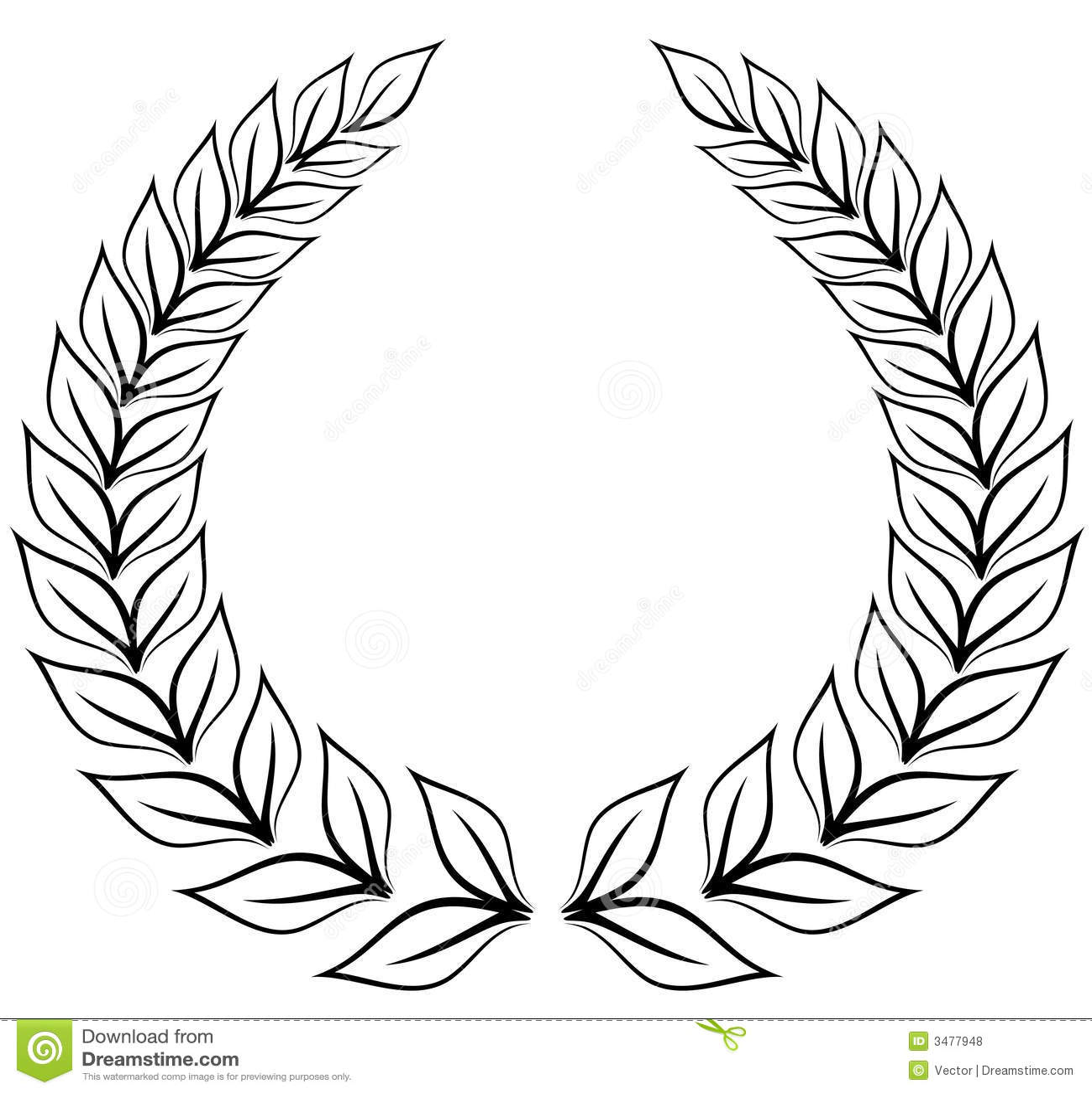 Laurel Wreath Royalty Free Stock Photos Image 3477948