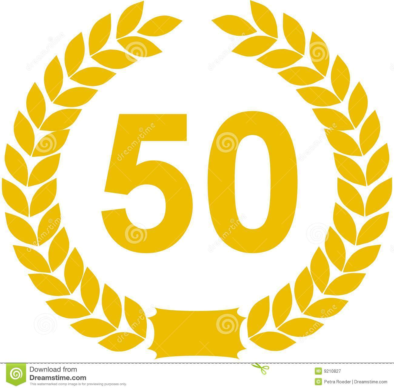 Laurel wreath 50 years royalty free stock photography image 9210827 - Clipart anniversaire 50 ans ...