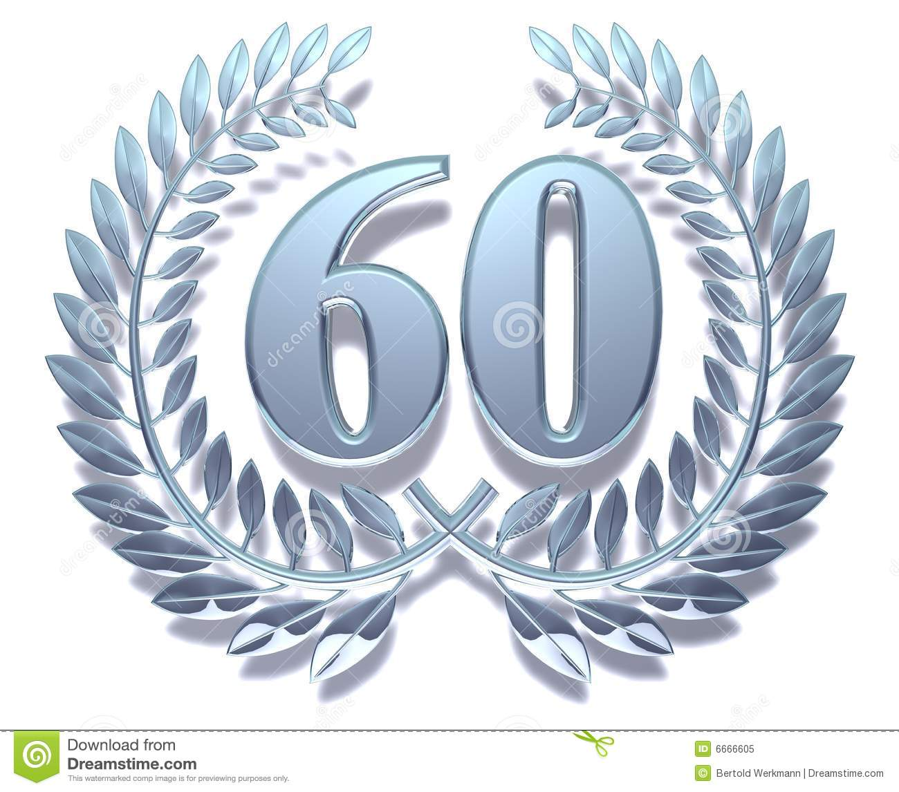 Number 60 Clipart Laurel wreath 60 royalty free