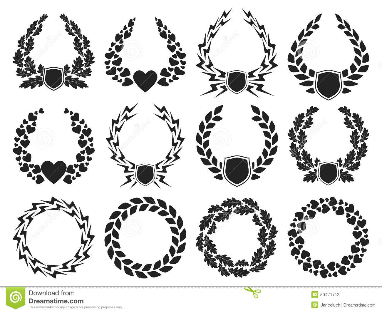 Laurel Wreath Collection Stock Vector Illustration Of Recognition