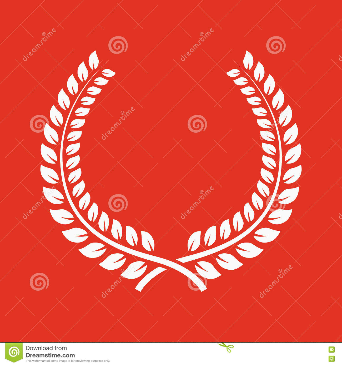 The Laurel Wreath Icon Prize And Reward Honors Symbol Flat Stock