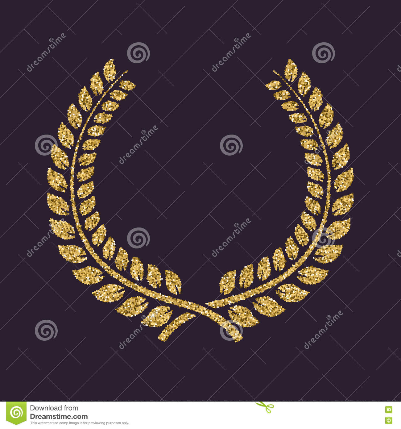 The Laurel Wreath Icon Prize And Reward Honors Symbol Gold