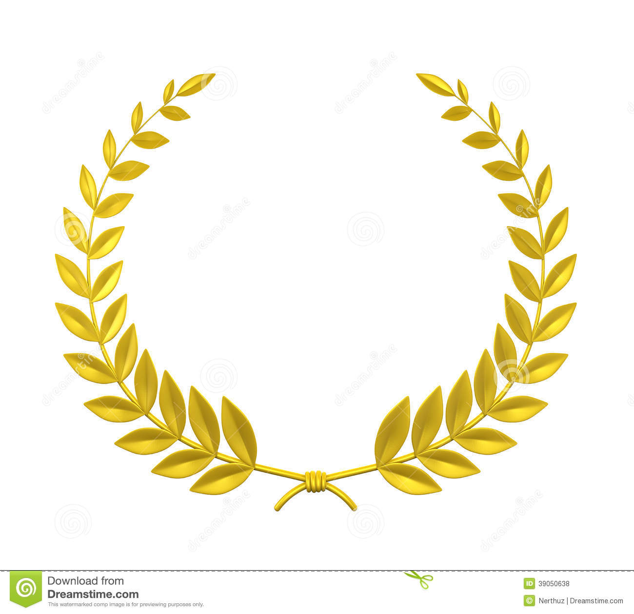 Laurel Wreath Stock Illustration Image 39050638