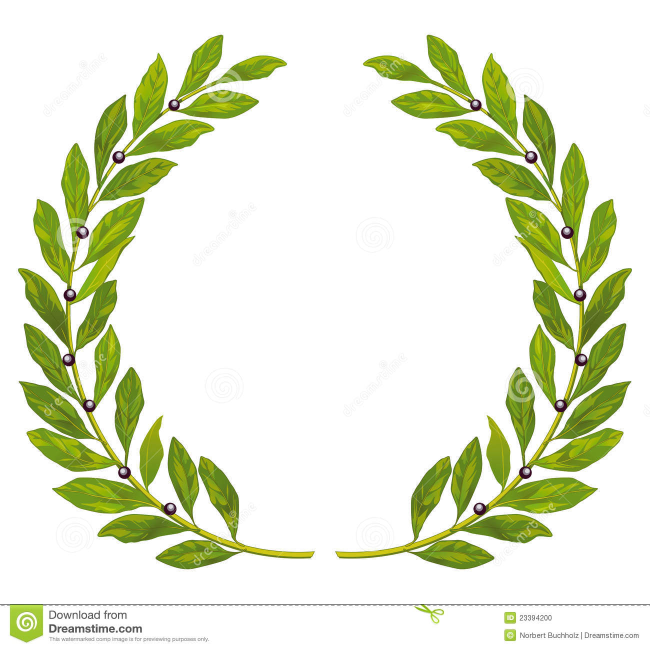 Laurel Wreath And Laurel Stock Photo - Image: 23394200