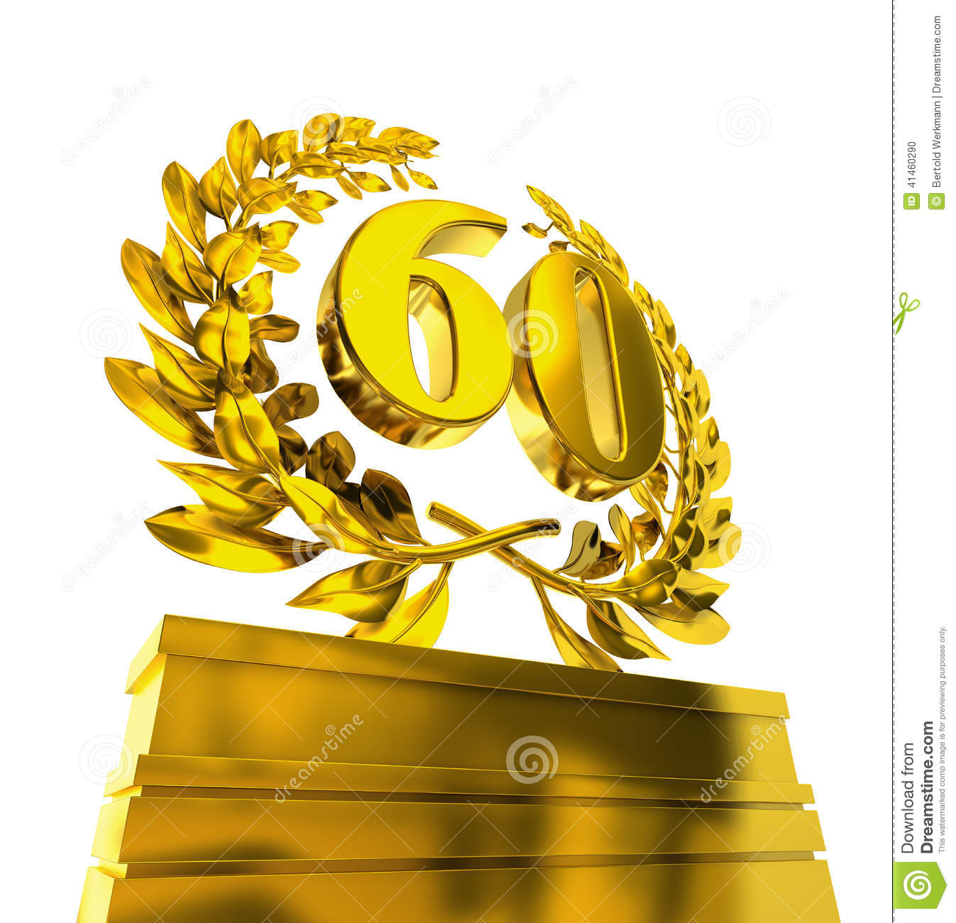 Laurel Wreath With Number 60 Stock Illustration Image