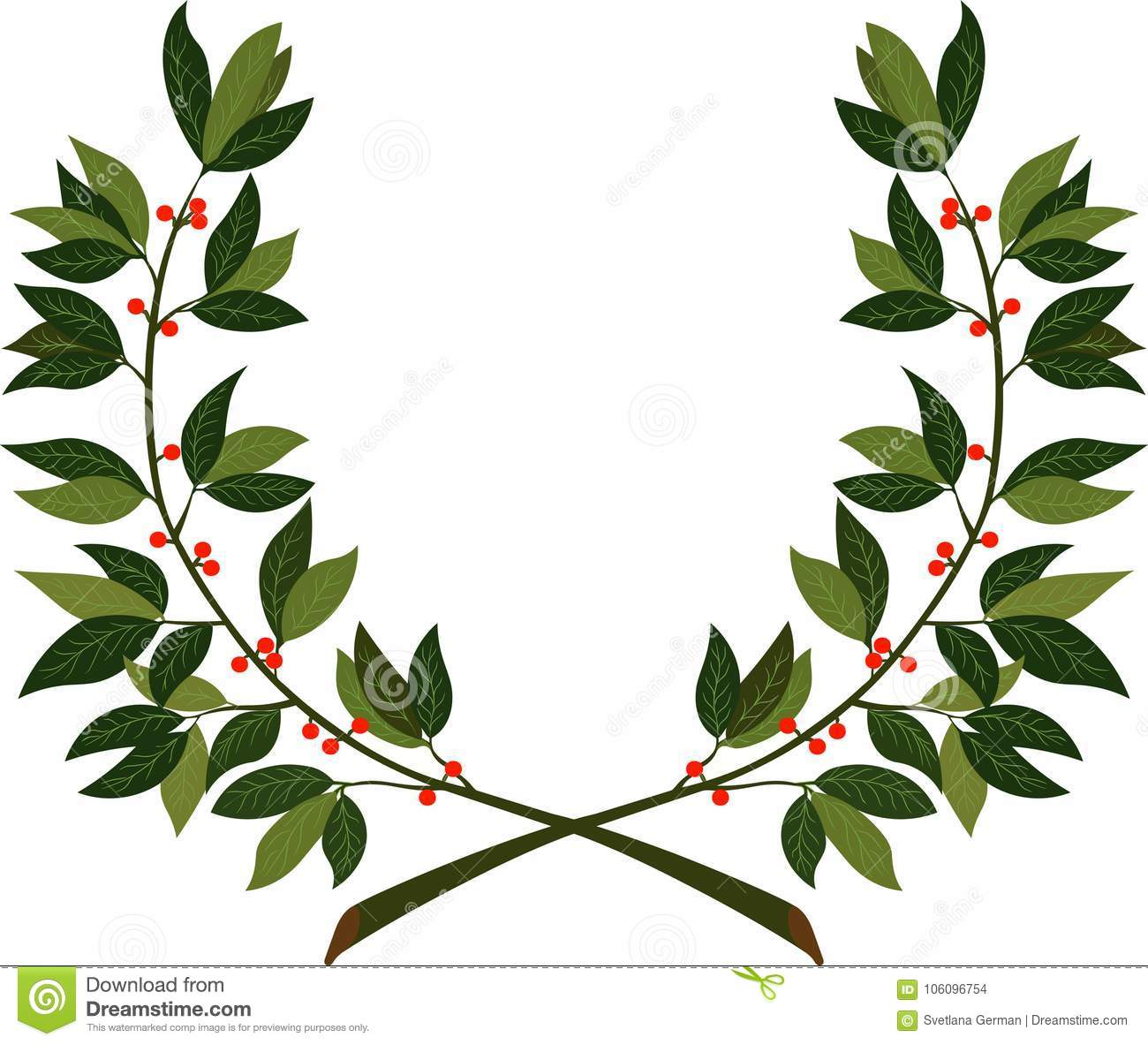 Laurel Wreath Symbol Of Victory And Achievement Stock Vector