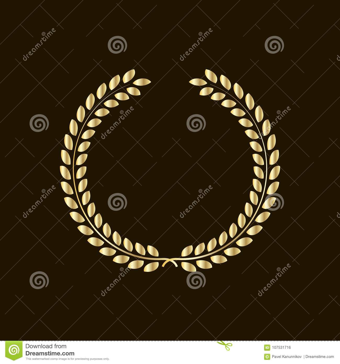 Laurel wreath - symbol of victory and power flat icon for websites