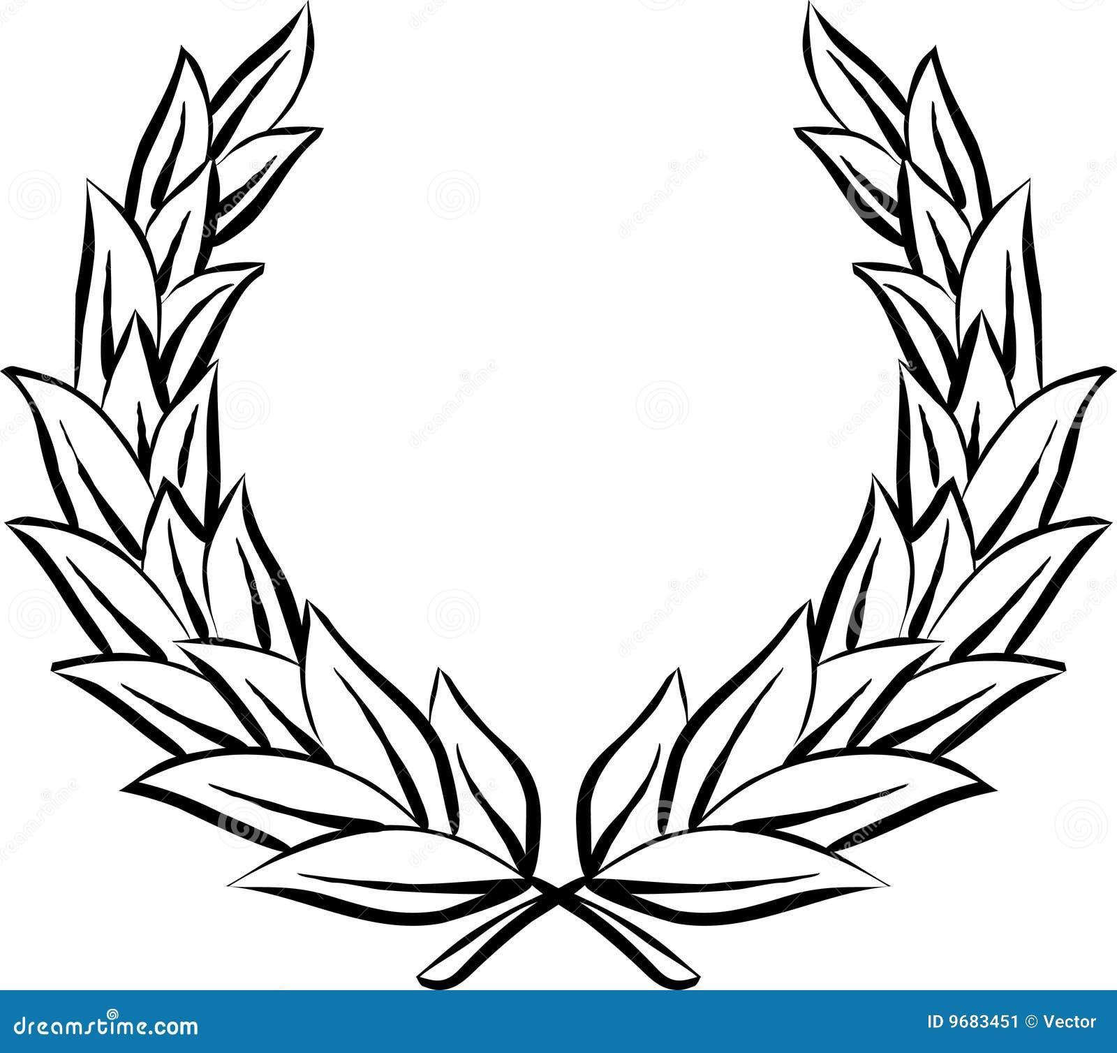 Vector illustration isolated on white background - Laurel wreath.