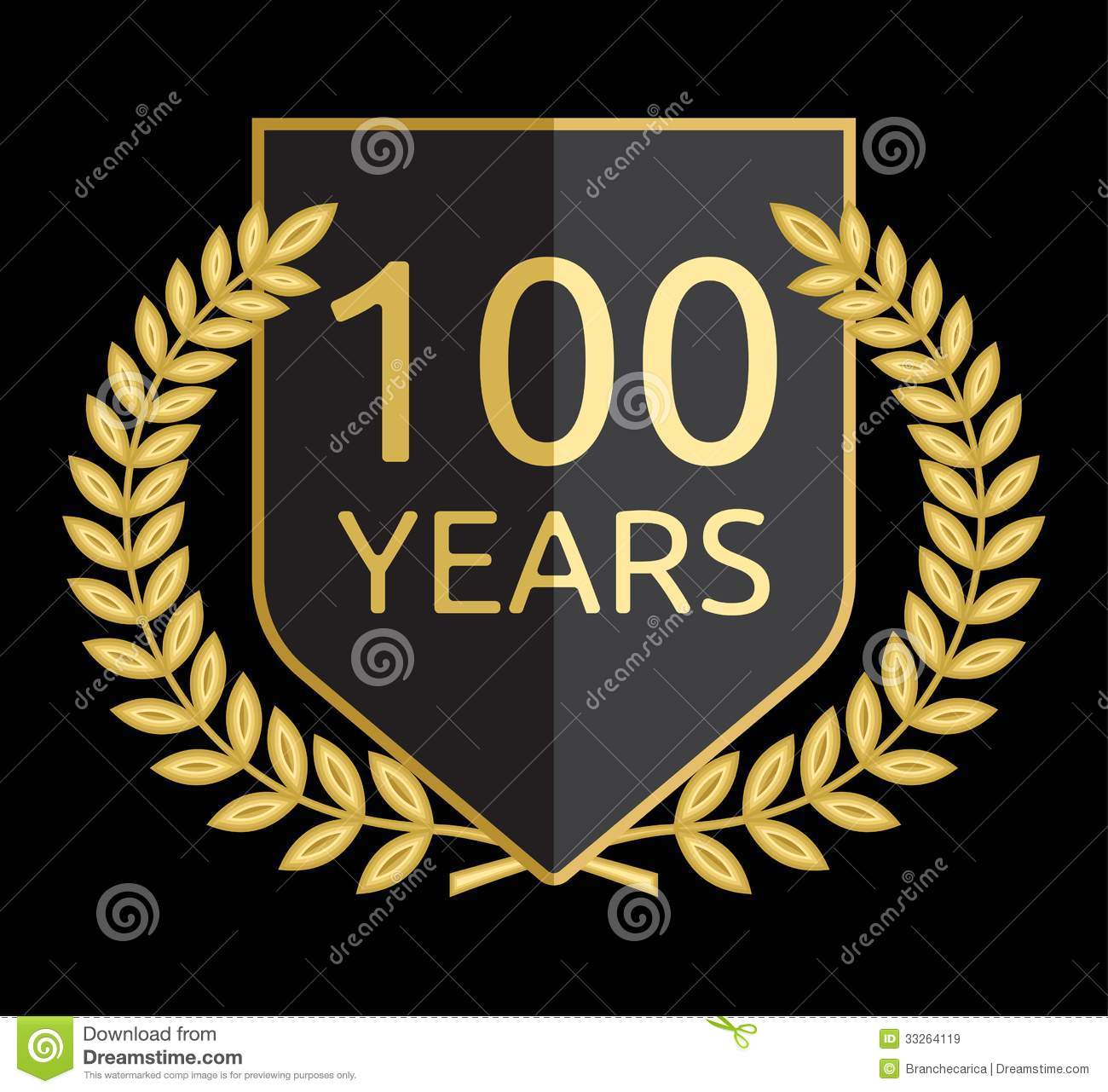 Laurel Wreath 100 Years Royalty Free Stock Images - Image: 33264119