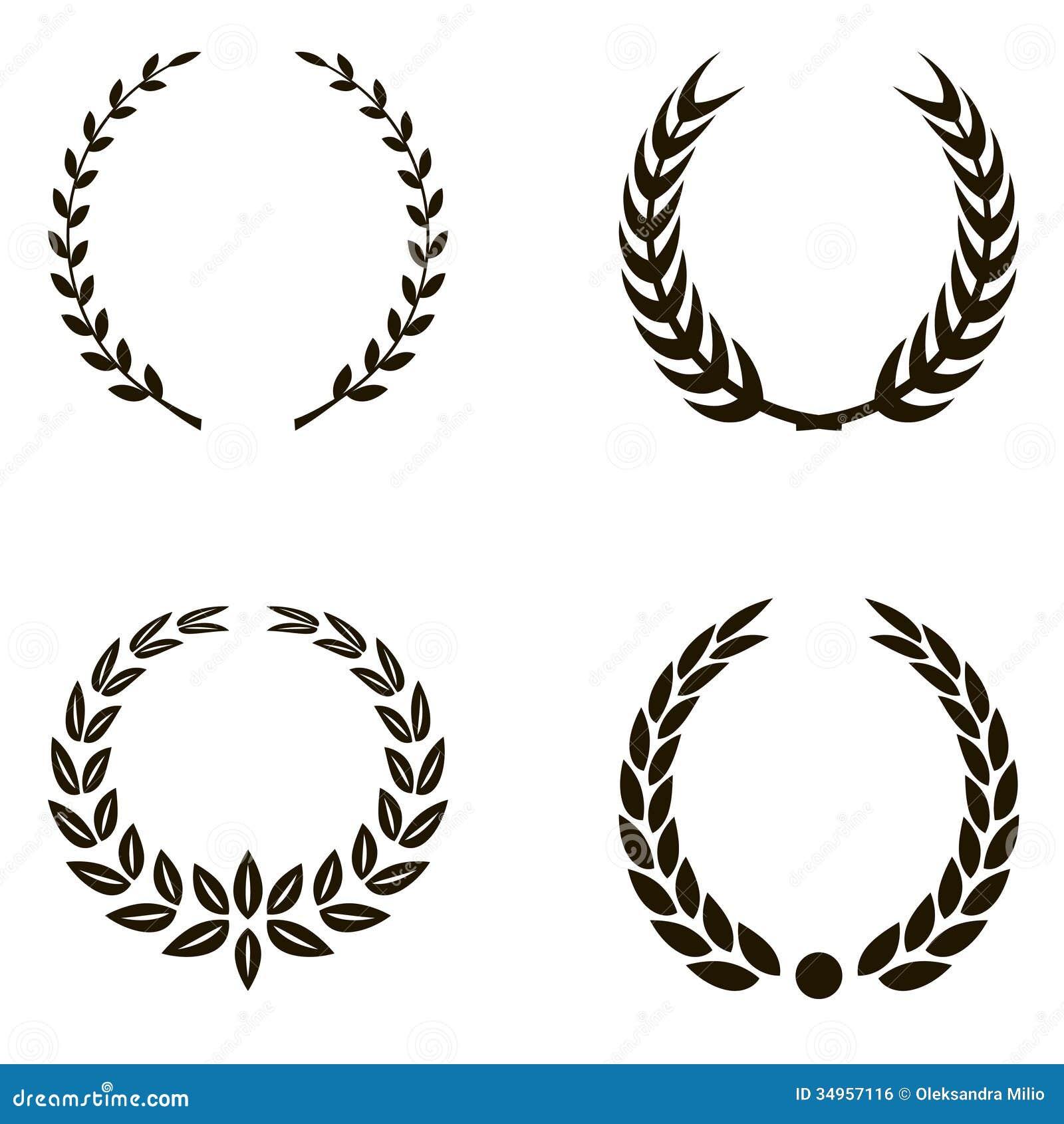 Laurel Wreaths Royalty Free Stock Image - Image: 34957116