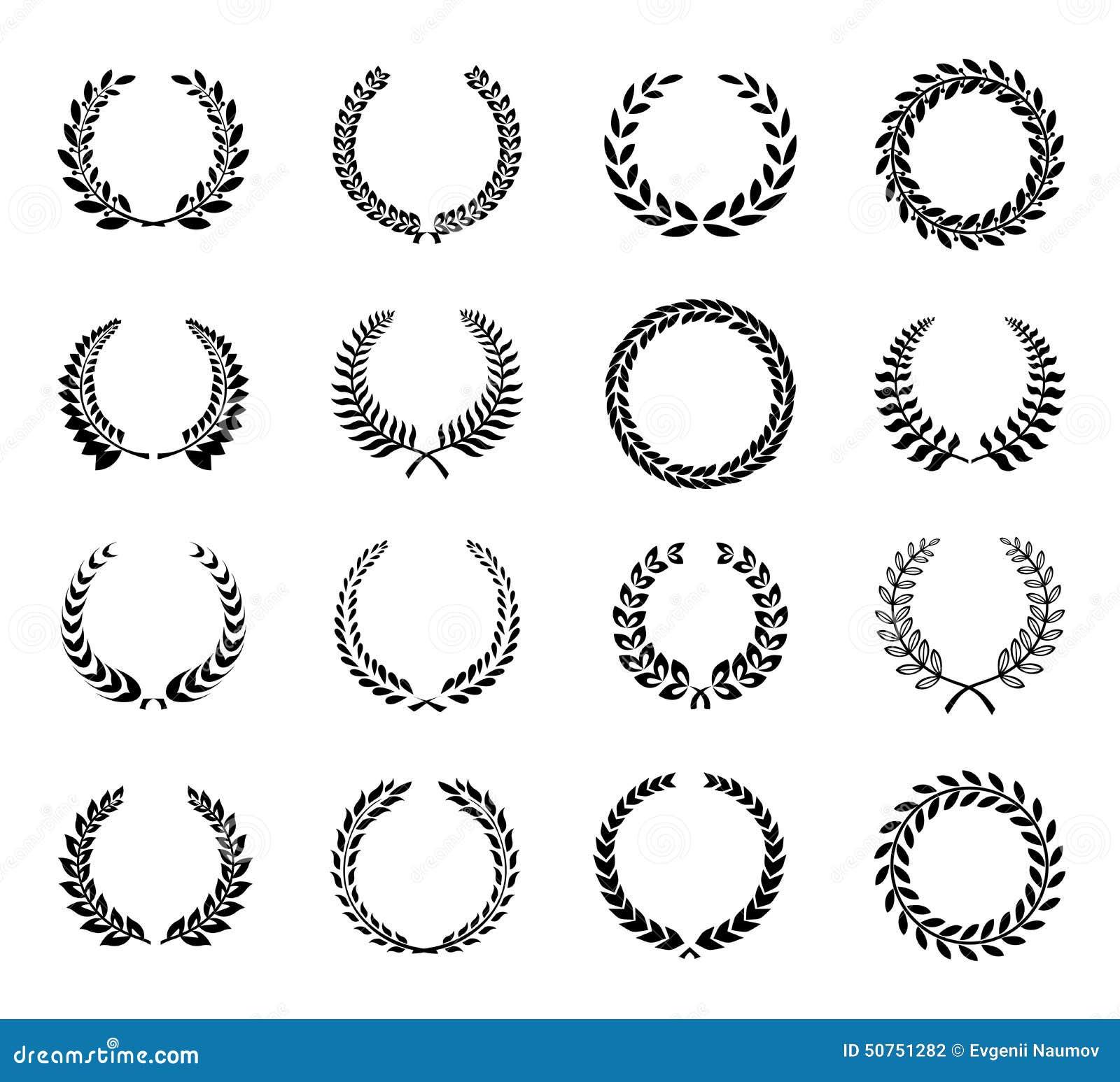 laurel wreaths vector stock vector image 50751282