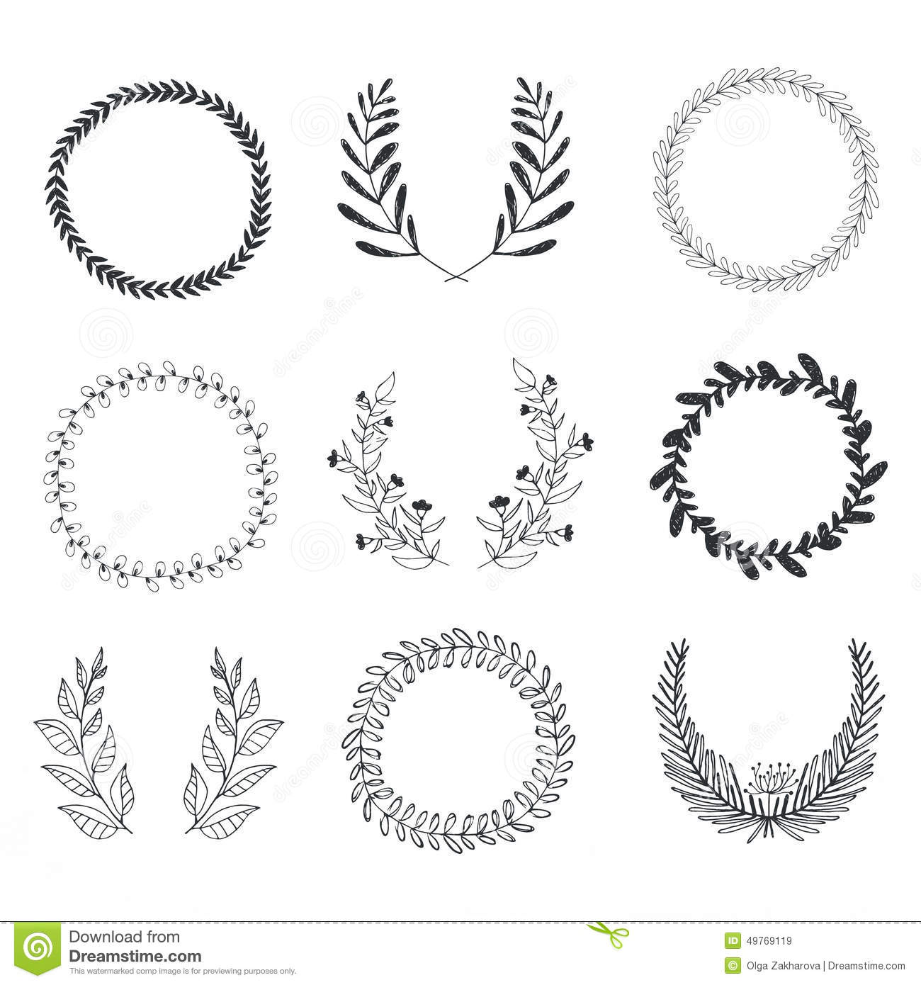 Laurels And Wreaths Collection Stock Vector - Image: 49769119