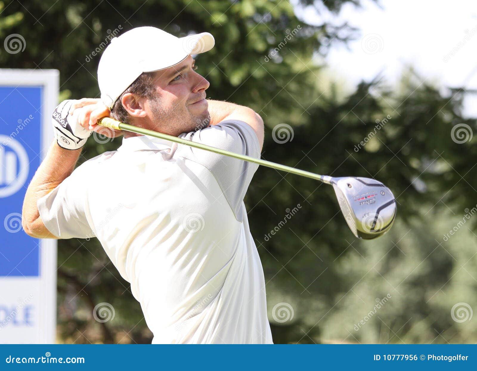 Laurent Seinger bij het golf Prevens Trpohee 2009