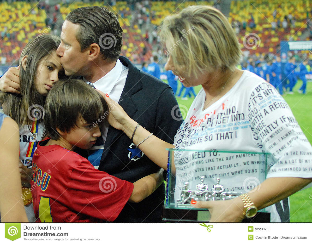 Laurentiu Reghecampf And His Family Editorial Stock Photo ...
