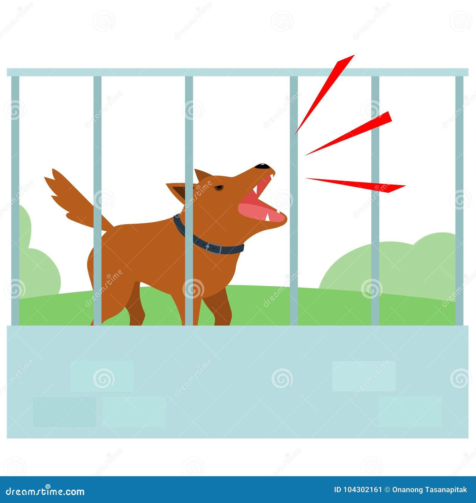 Lauter Hund, der ständig im Zaun des Nachbars bellt