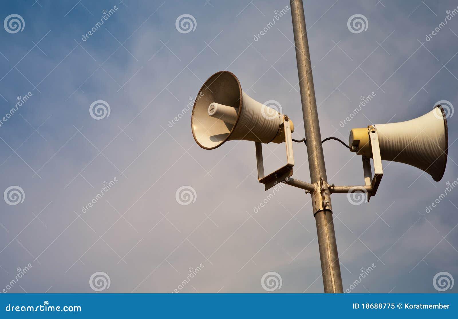 Lauter Lautsprecher der Hupe