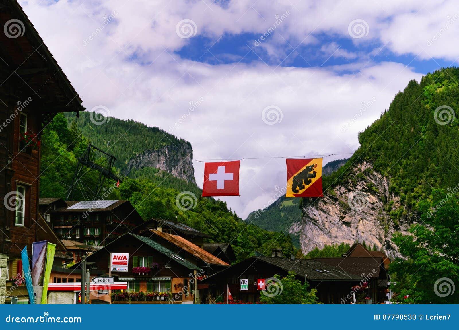 Lauterbrunnen - Regione Svizzera Di Jungfrau Della Località Di ...