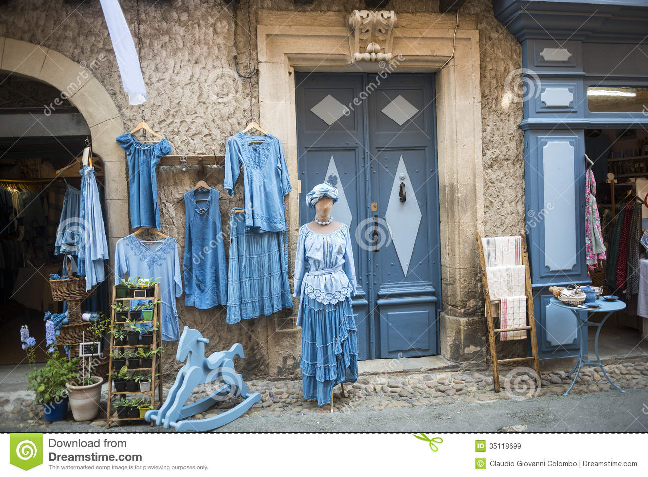 Lautrec France Old Village Tarn Midi Pyrenees Medieval Half Timbered Buildings Typical Shop