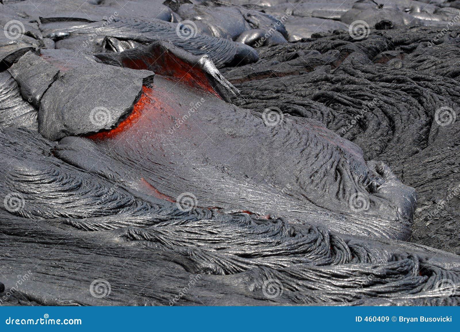 Download Lava Flow stock image. Image of rock, heat, grey, kilauea - 460409