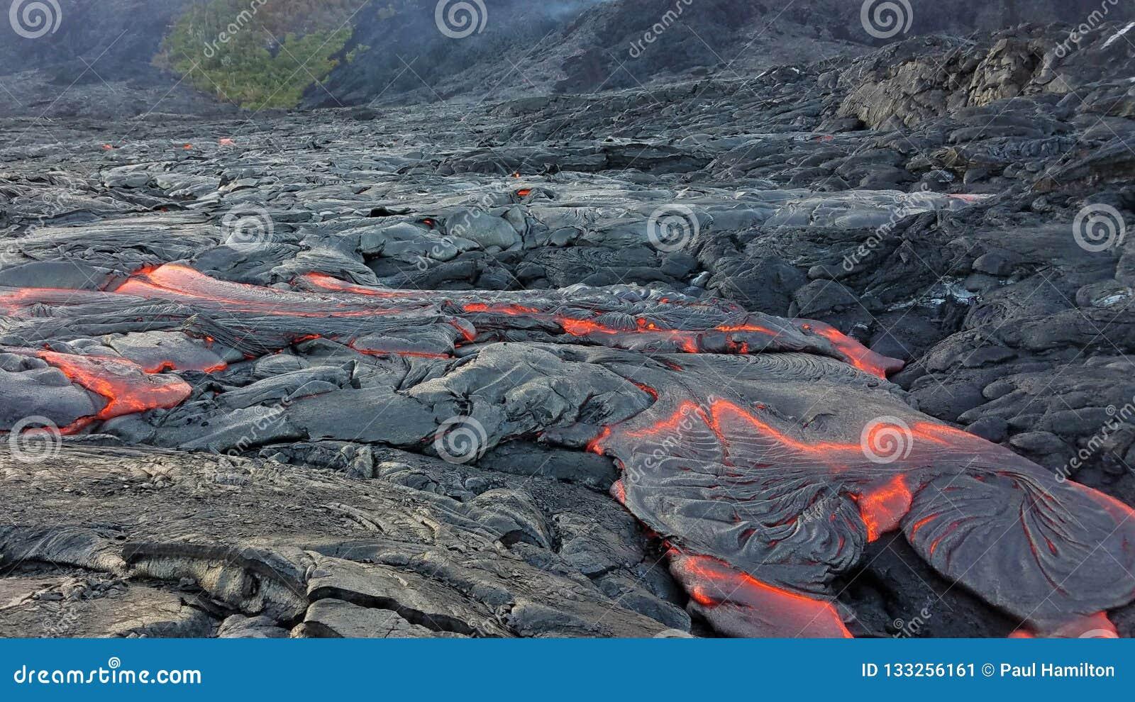 Lava Flow do vulcão havaiano