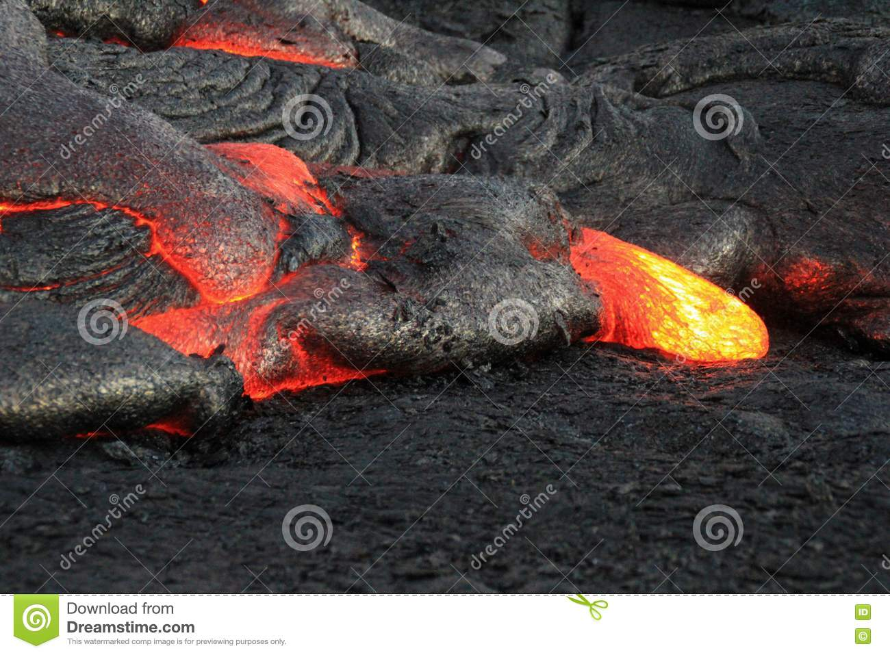 Lava Flows From Hawaii u. x27; Vulkan lauea s KÄ ""