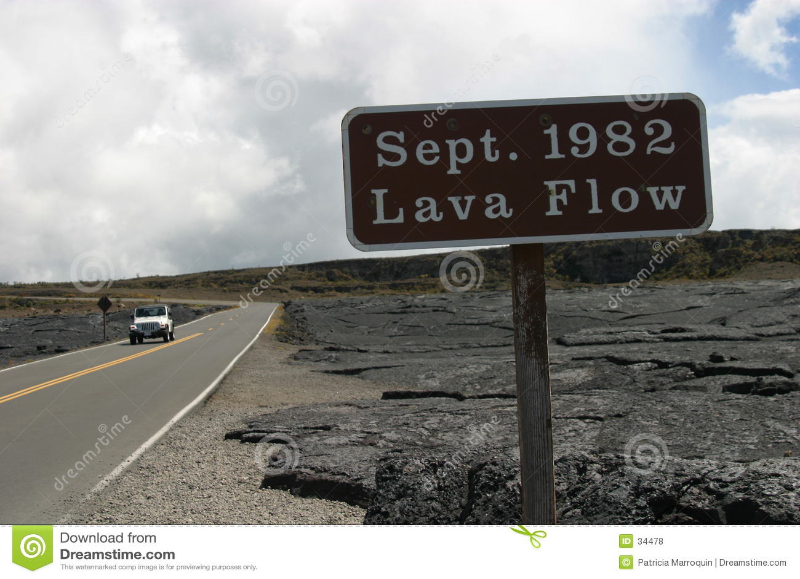Lava-Fluss 1982
