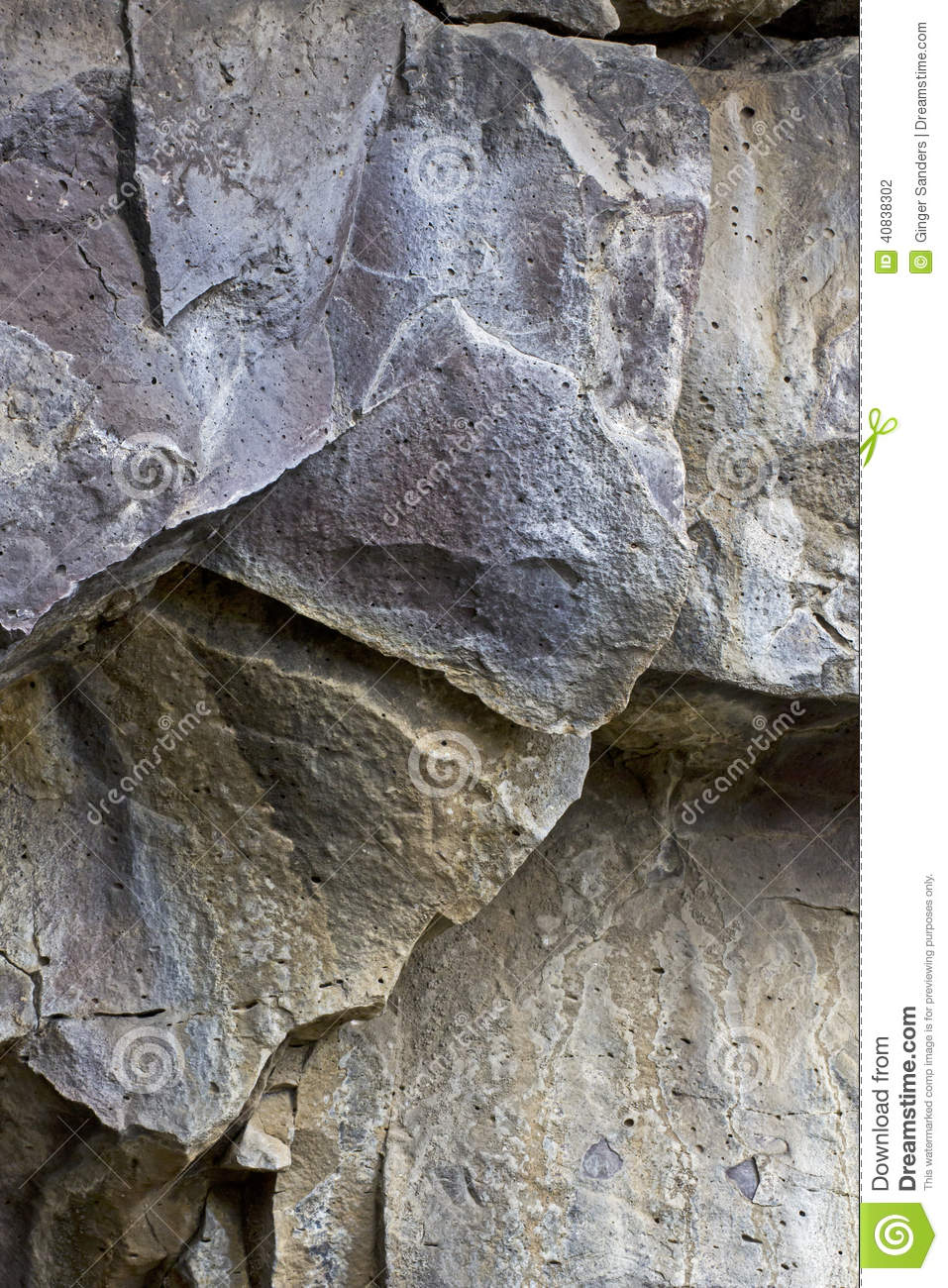 Lava Rock Cave Wall Shards Background Texture Stock Photo ...