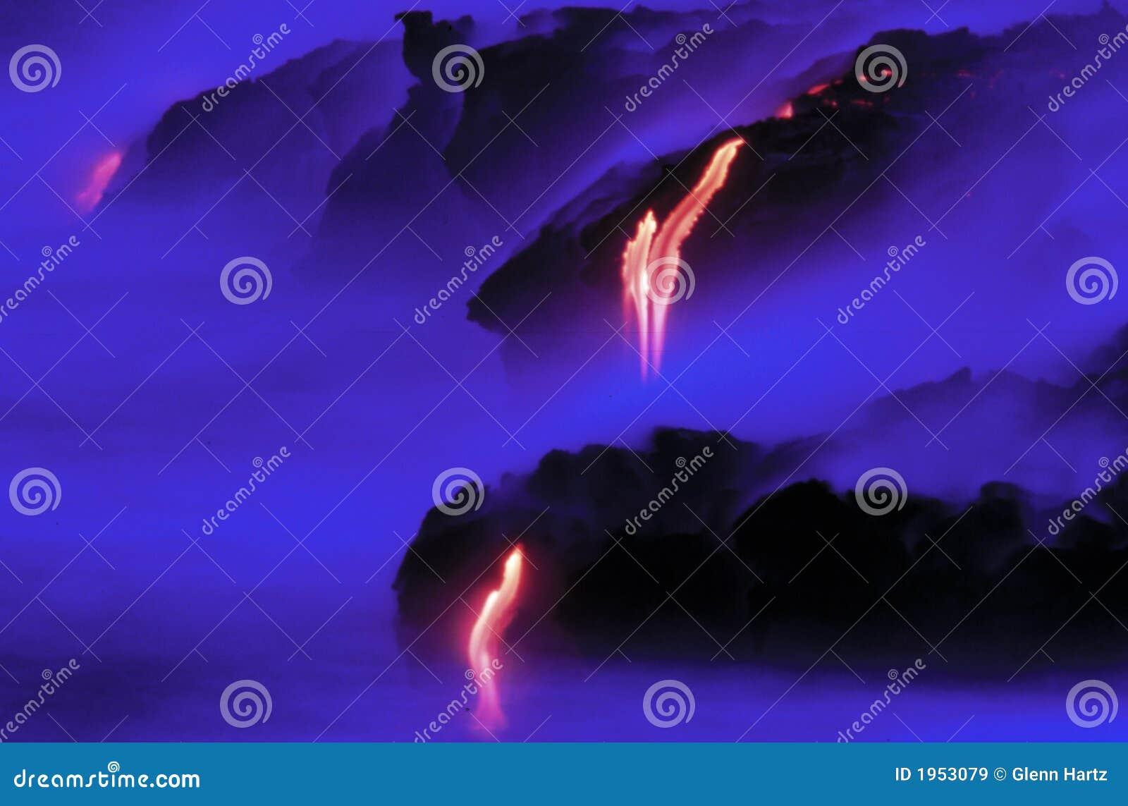 Lava vom Kileauea Vulkan.