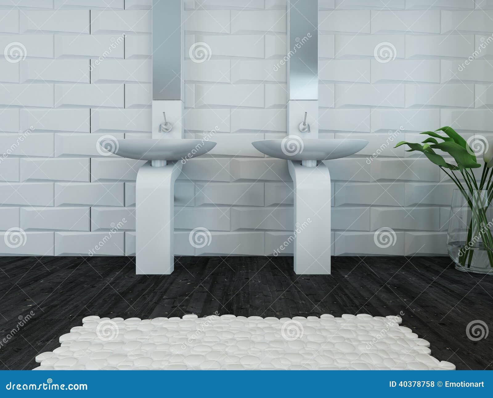 Lavabo blanco y grifo del dise o moderno foto de archivo - Grifos de lavabo de diseno ...