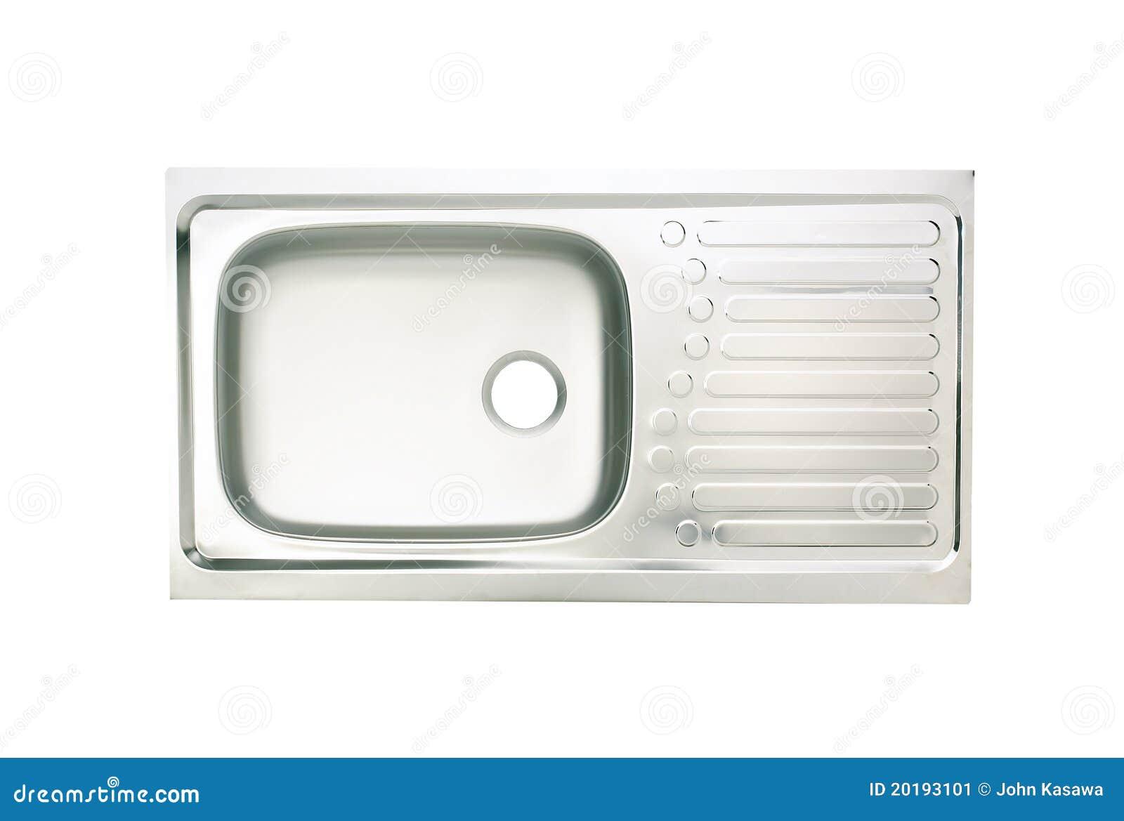 Lavabo del fregadero de cocina imagen de archivo imagen for Fregaderos de aluminio