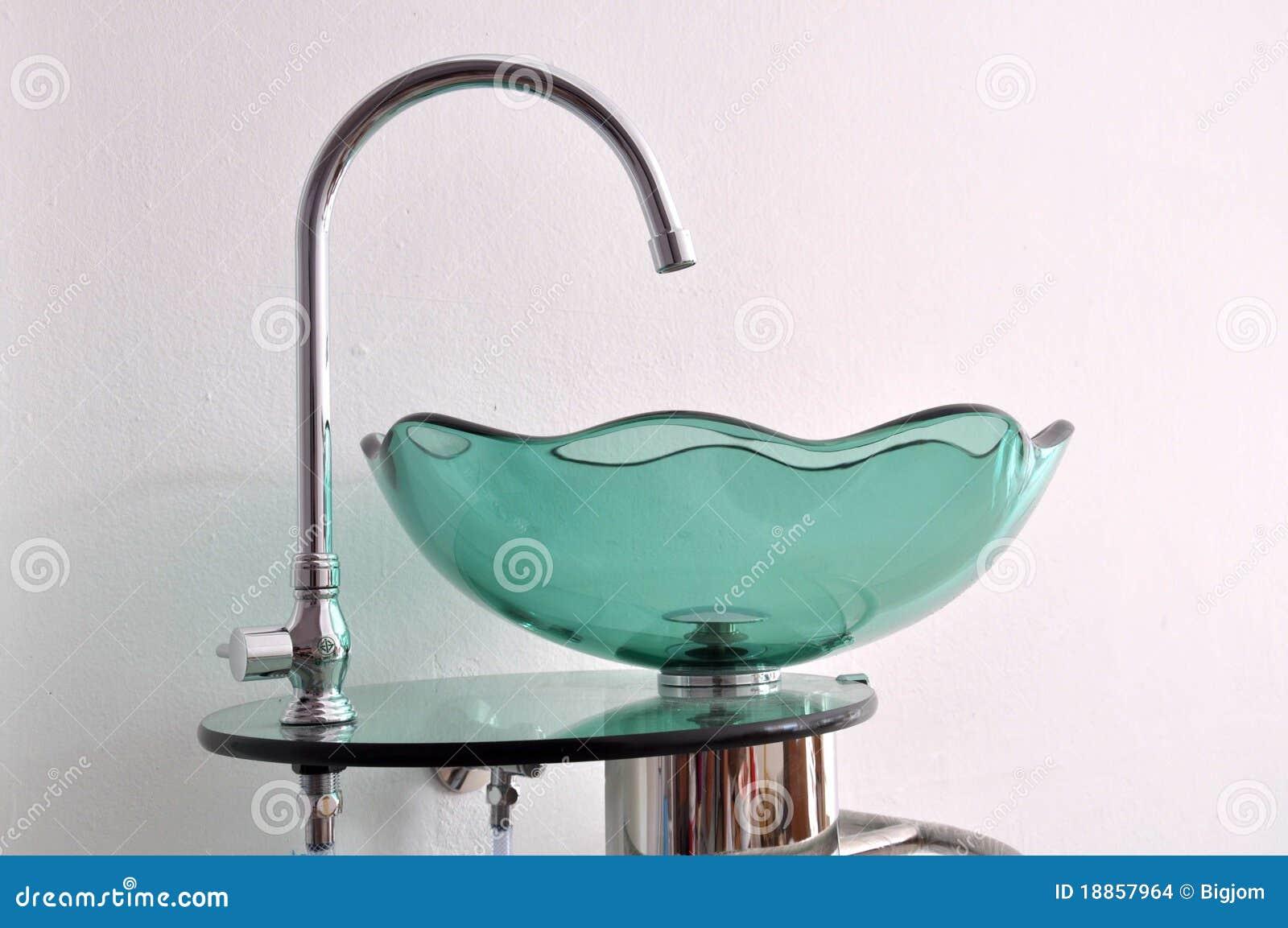 Lavabo della mano della ciotola di vetro