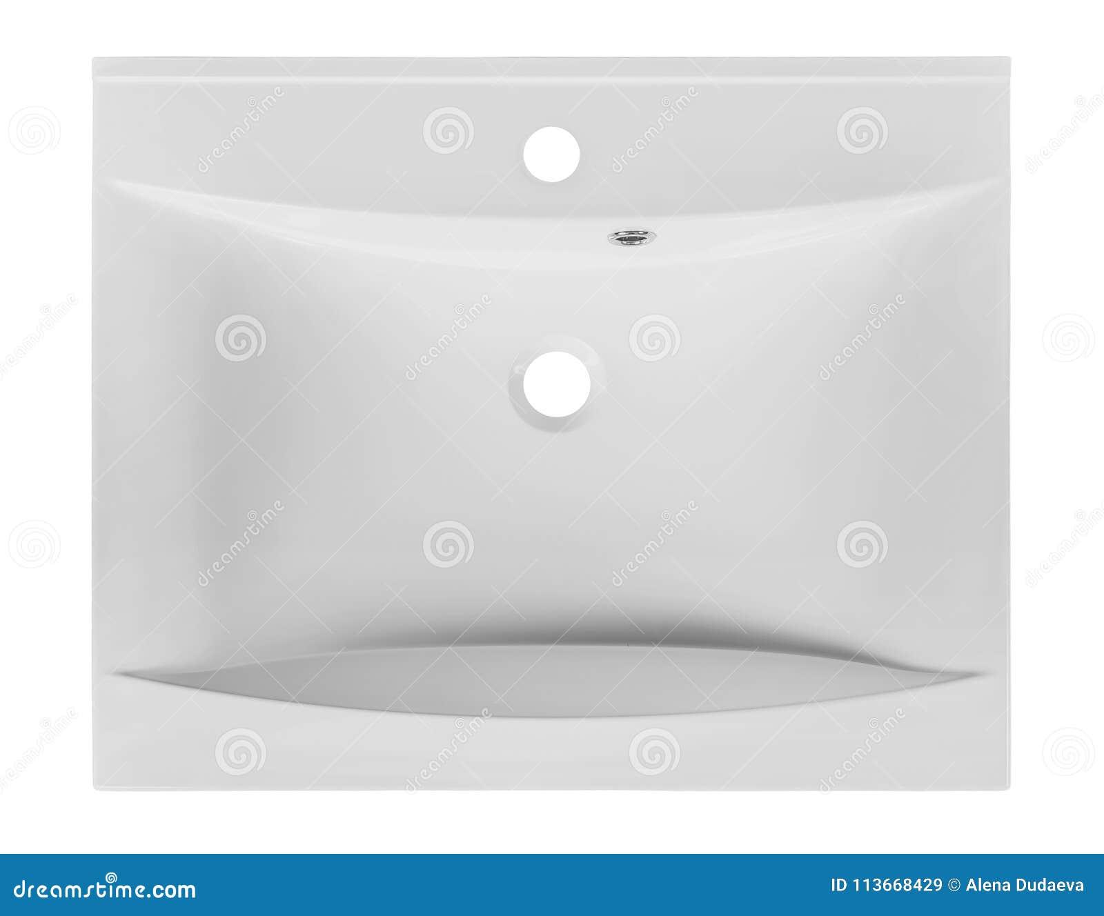 Lavabo Moderne Rectangulaire Blanc Dans La Salle De Bains D ...