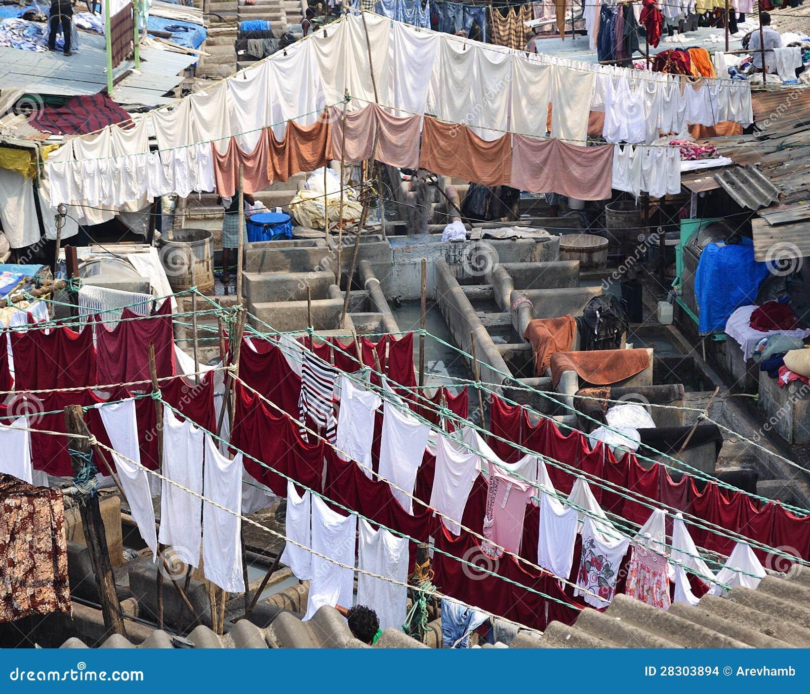 Lavadero al aire libre, Bombay