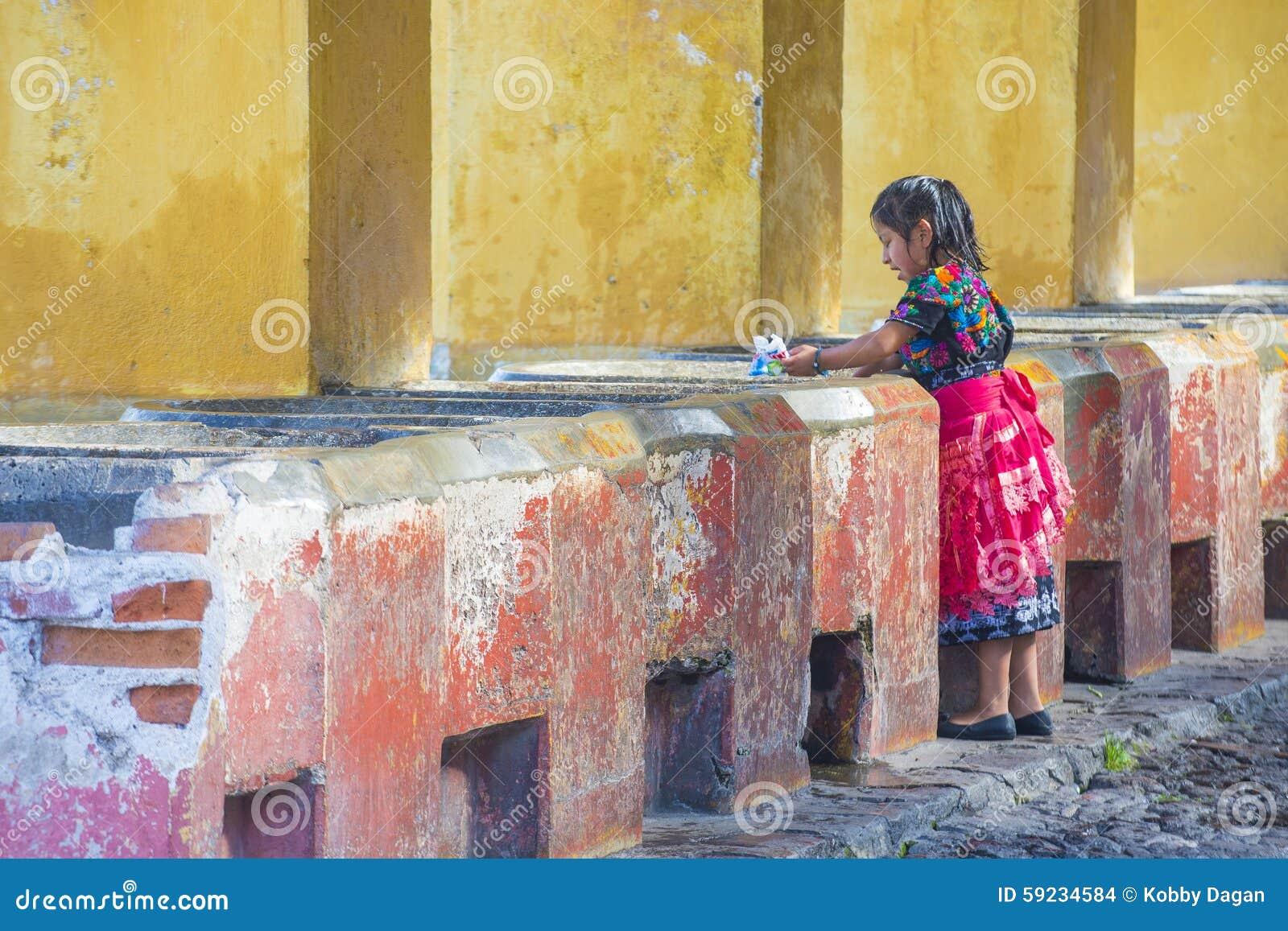 Download Lavadero De La Calle De Antigua Imagen de archivo editorial - Imagen de tradicional, naturalness: 59234584