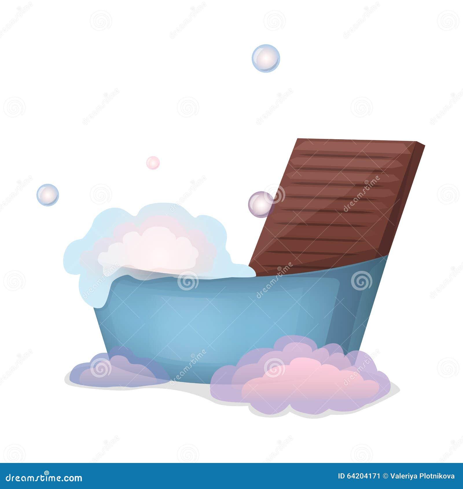 Lavadero, espuma y lavabo del ejemplo