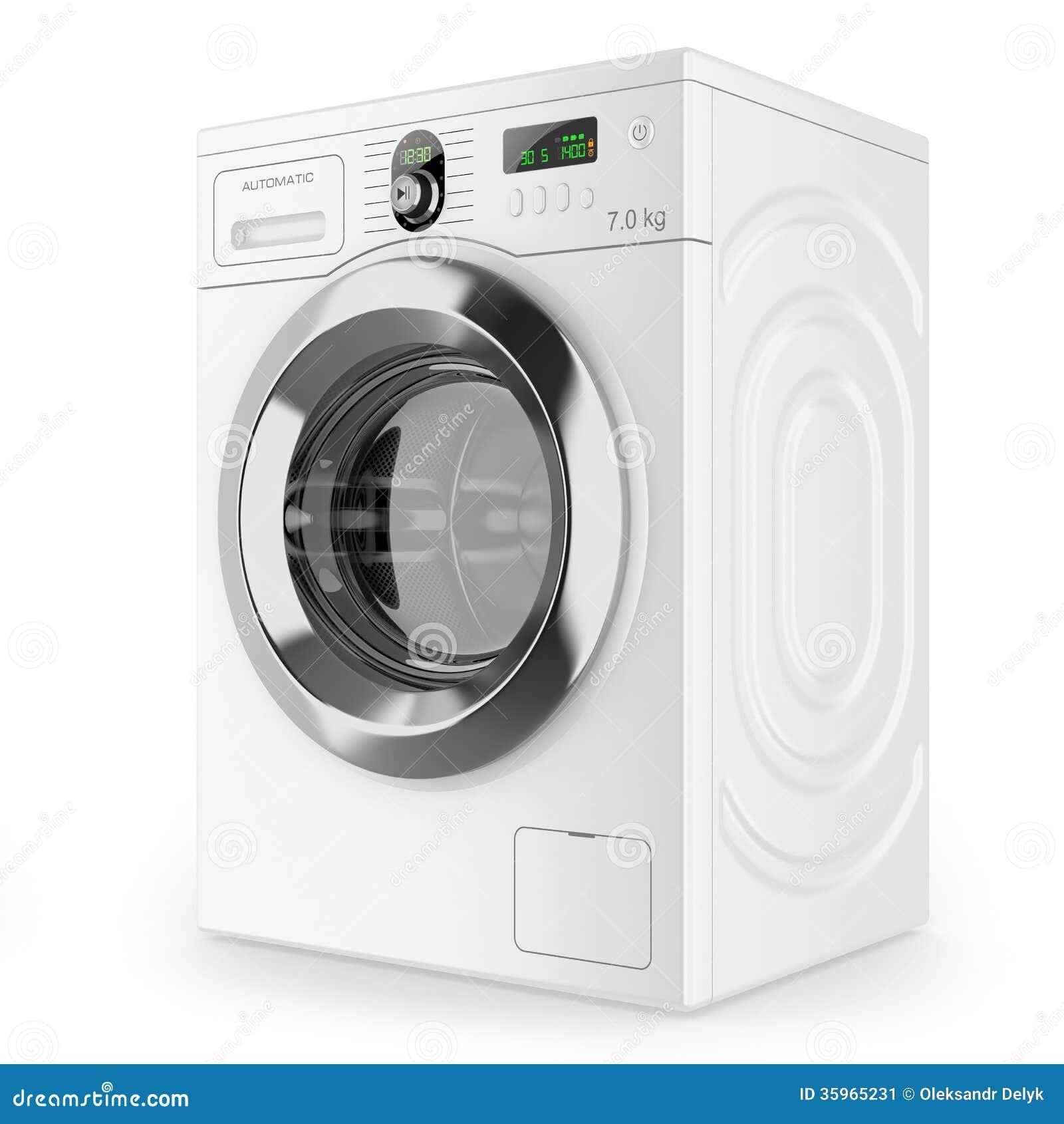 Lavadora automática moderna
