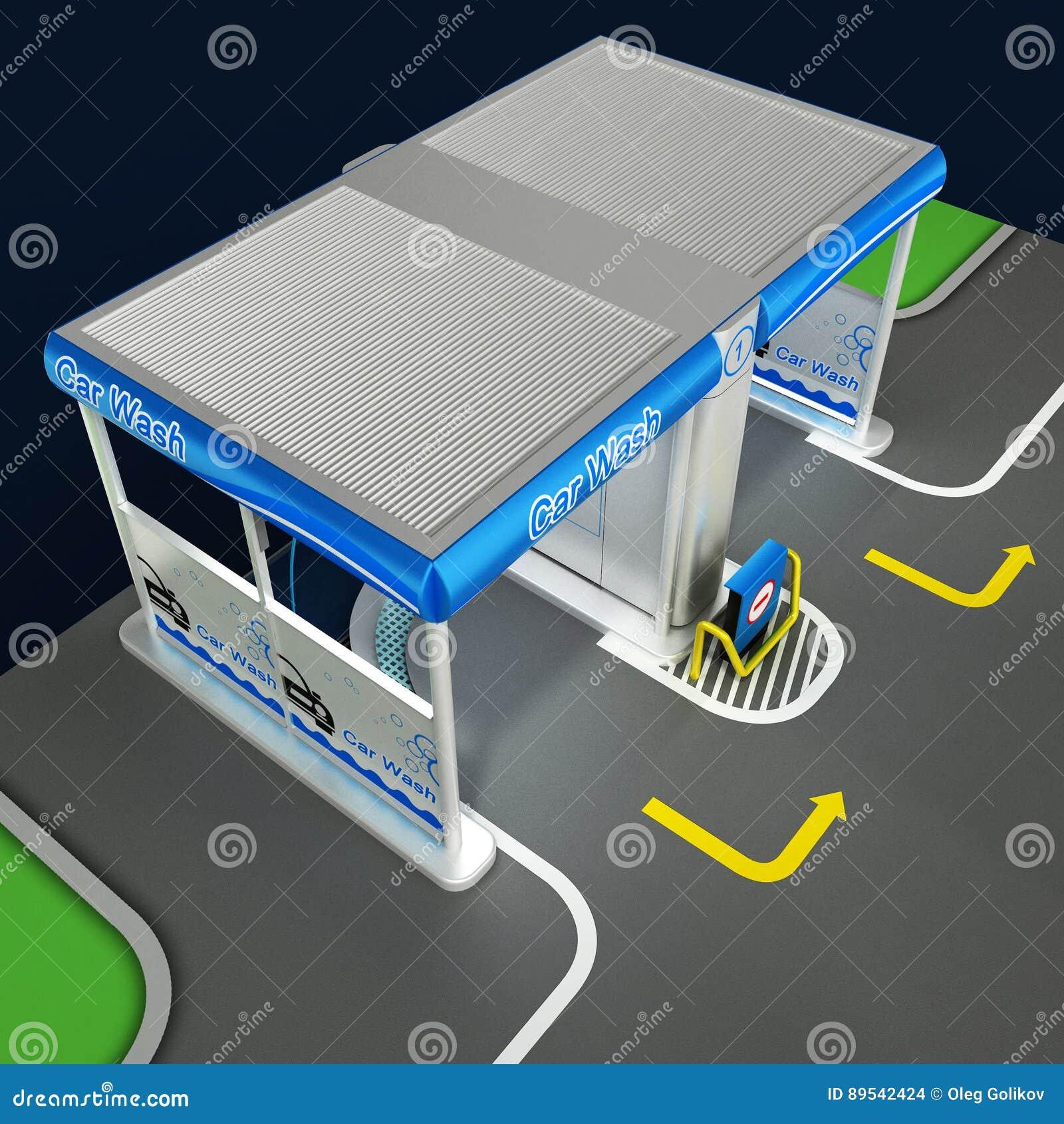 lavage de non contact de voiture de libre service plan du. Black Bedroom Furniture Sets. Home Design Ideas