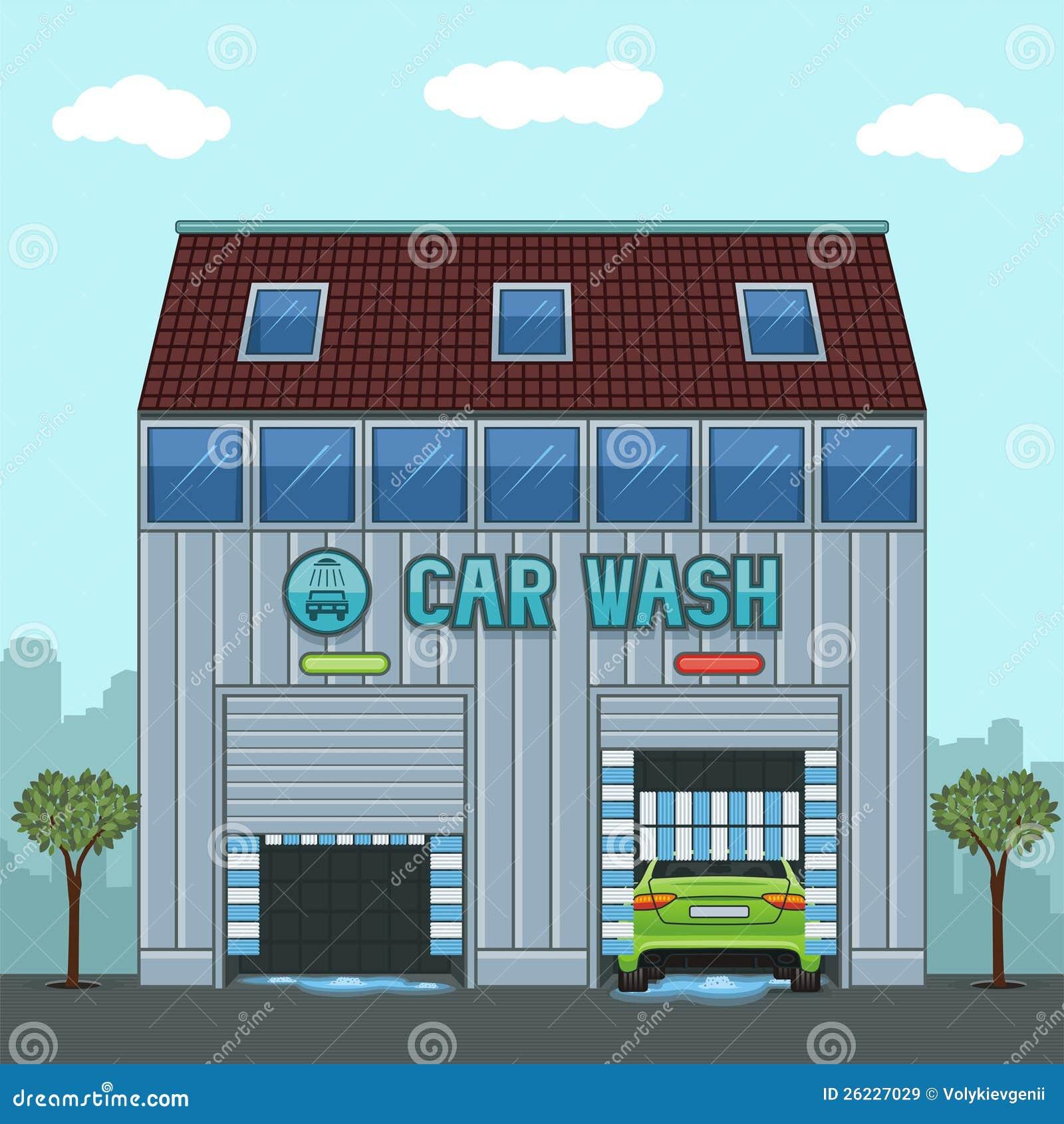 Lavage de voiture images libres de droits image 26227029 - Coloriage car wash ...