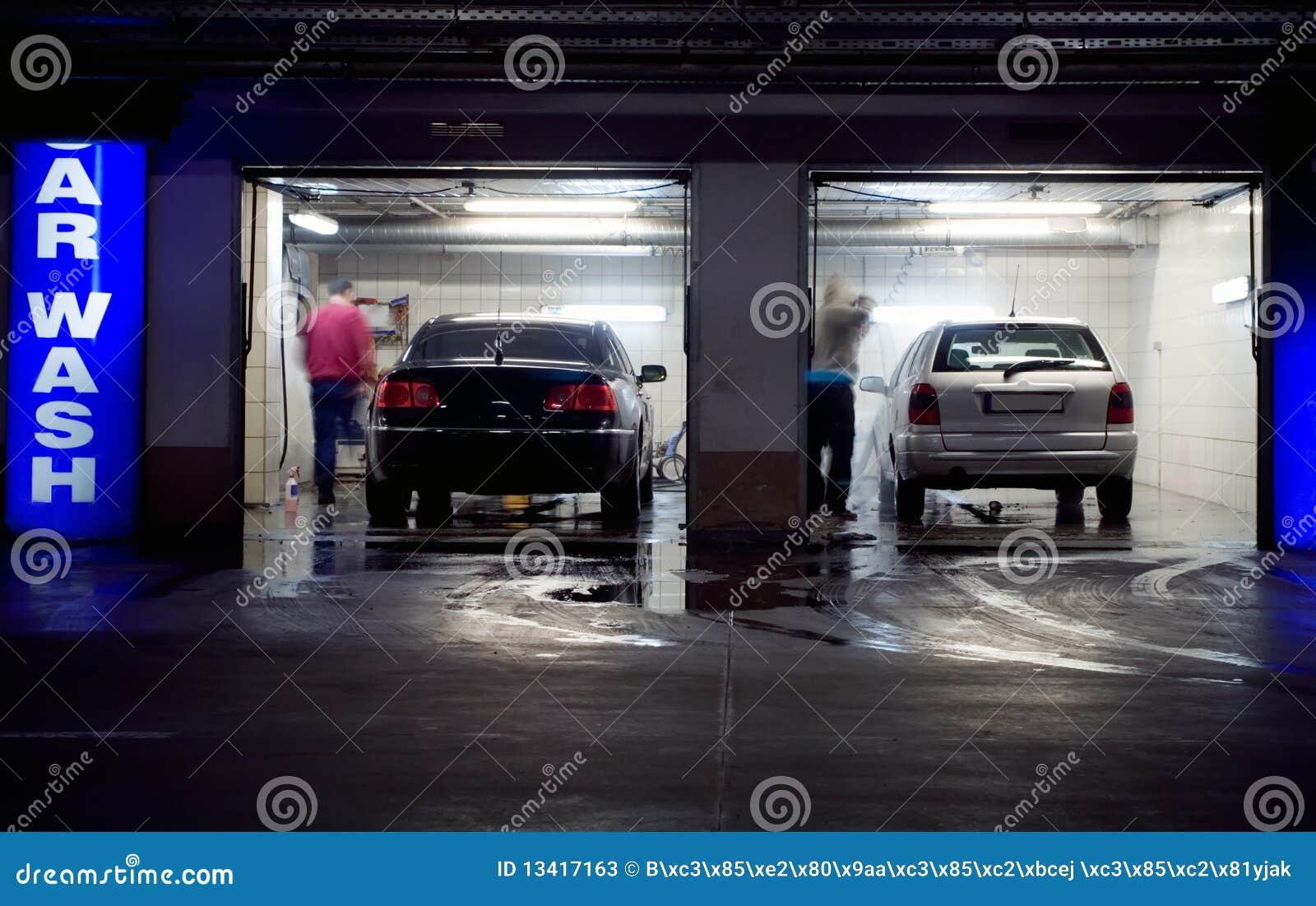 lavage de voiture dans le garage de stationnement souterrain image stock image du noir. Black Bedroom Furniture Sets. Home Design Ideas