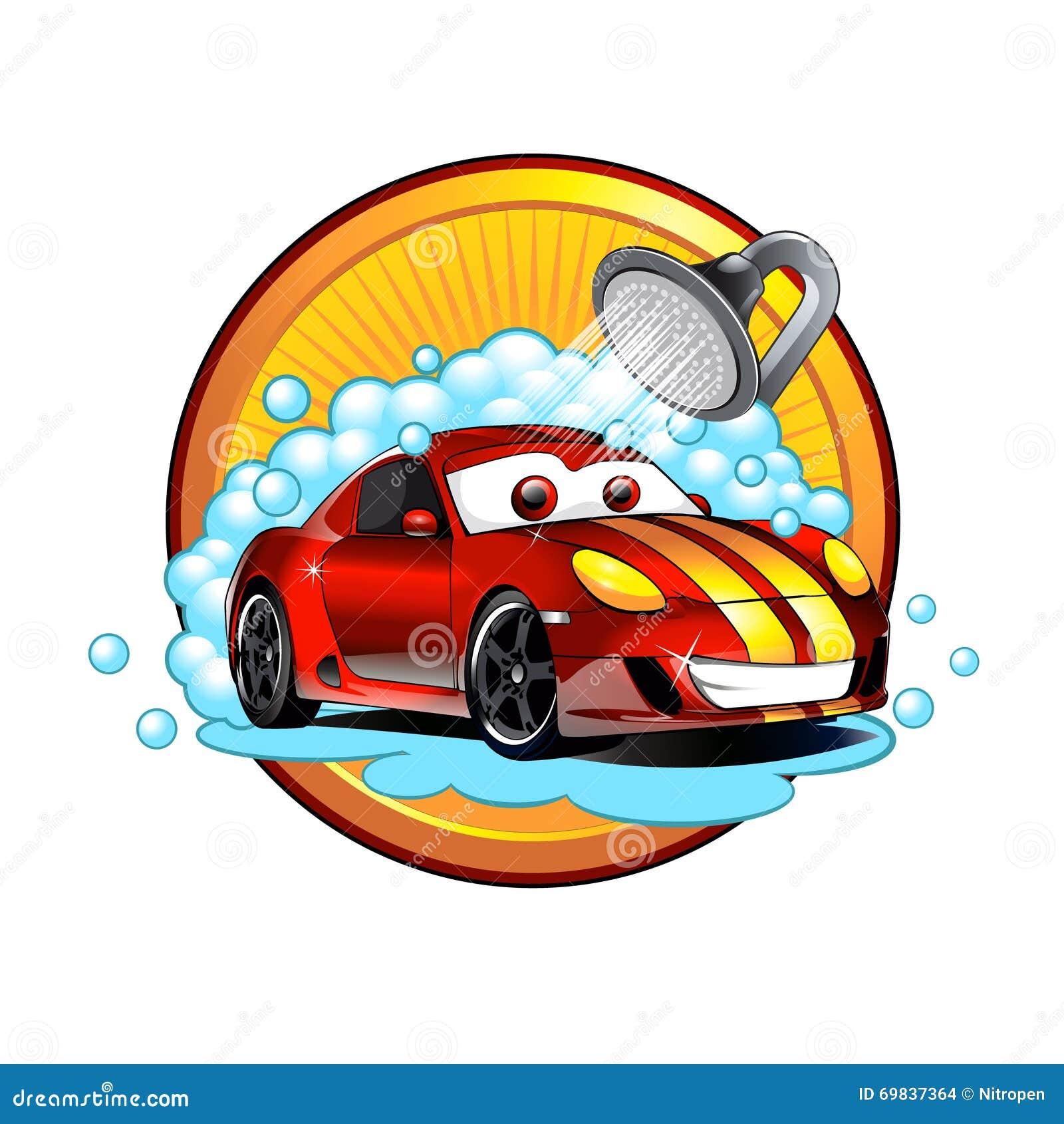 lavagem de carros engraçada dos desenhos animados ilustração do