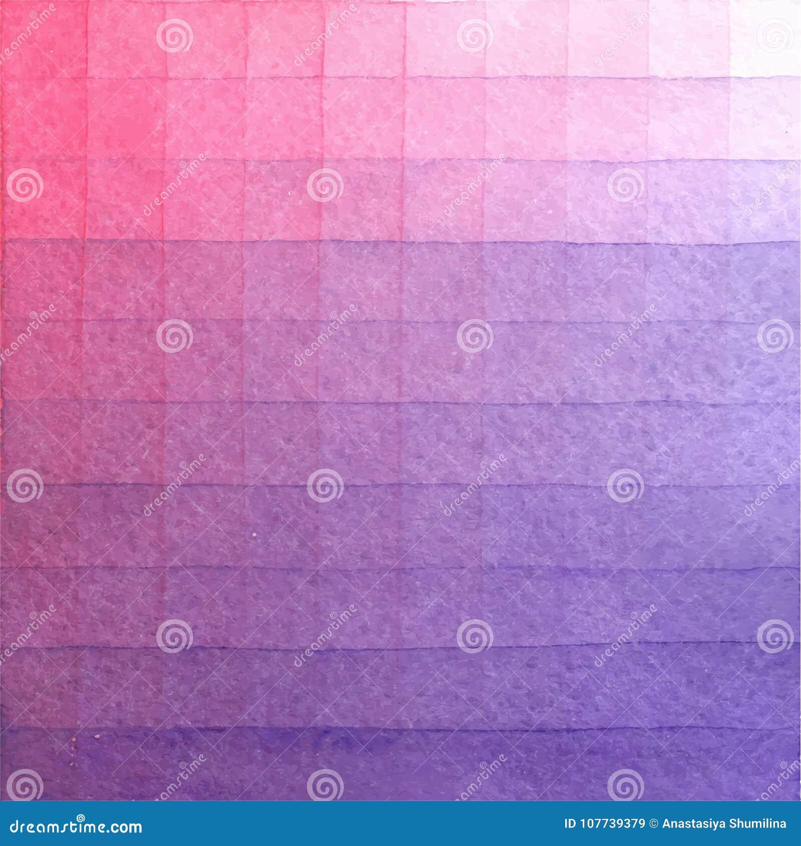 Lavagem pintado à mão do fundo da aquarela Textura cor-de-rosa abstrata do watercolour Inclinação Pearlescent, cor-de-rosa
