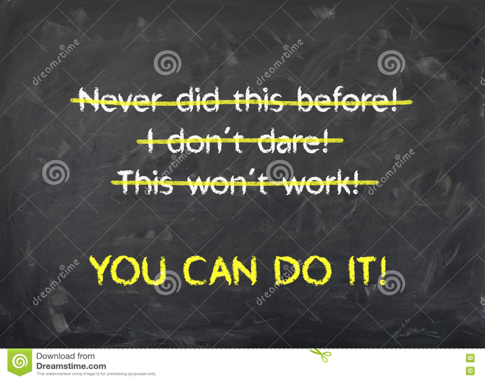 Lavagna - potete farlo - motivazione