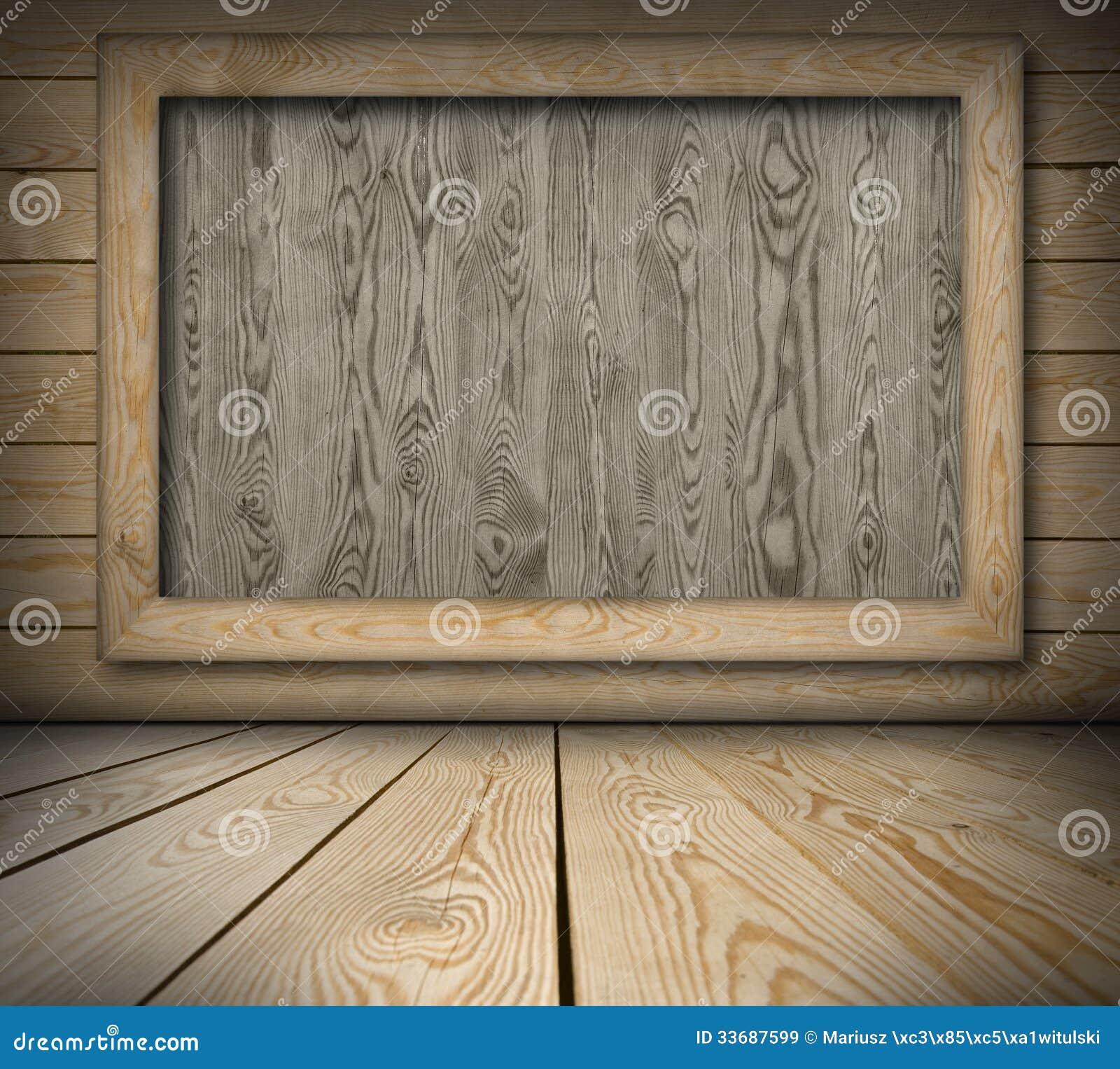 Lavagna sulla parete di legno immagine stock immagine di - Parete di legno ...