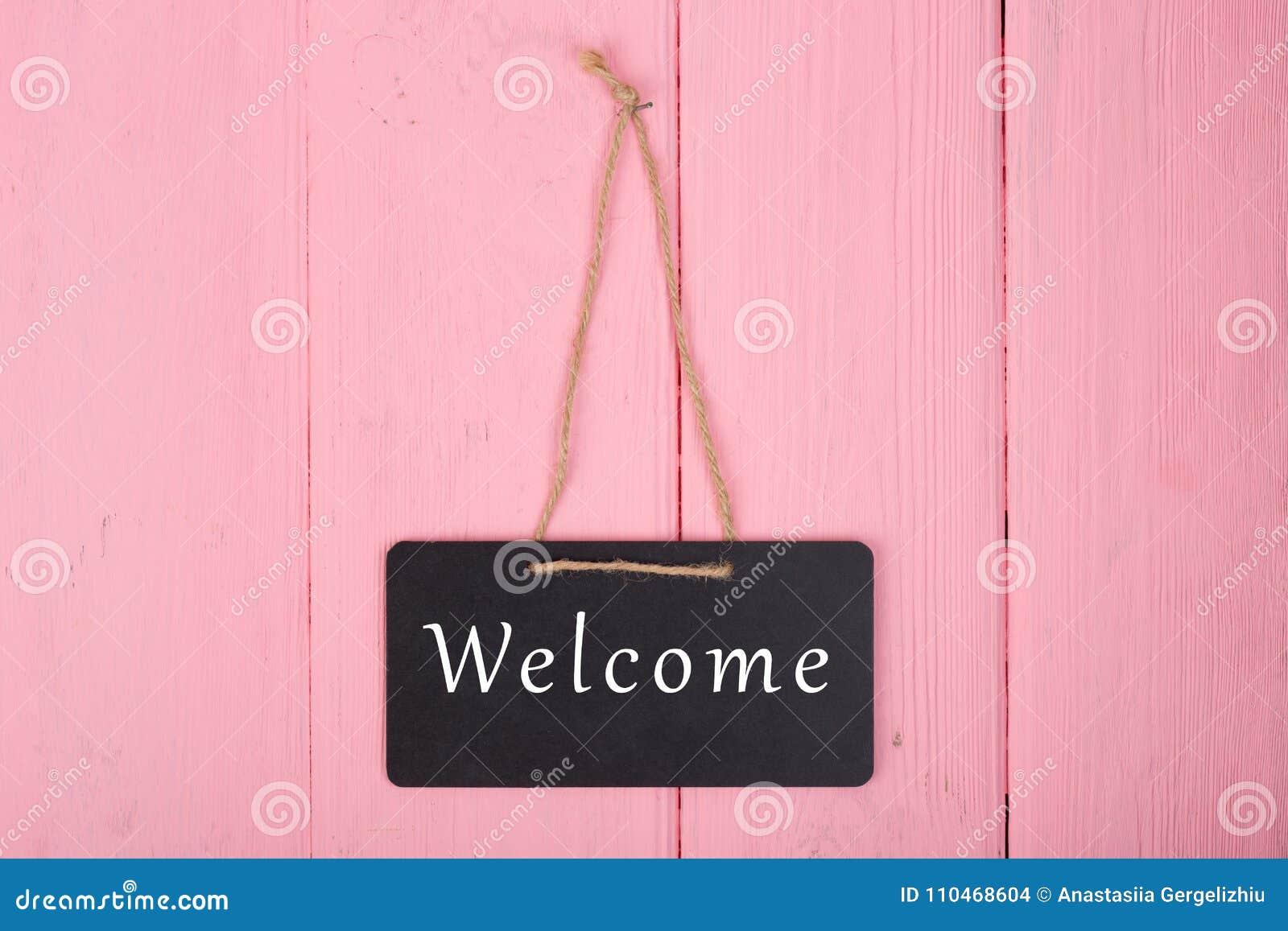 """Lavagne con l iscrizione """"benvenuto """""""