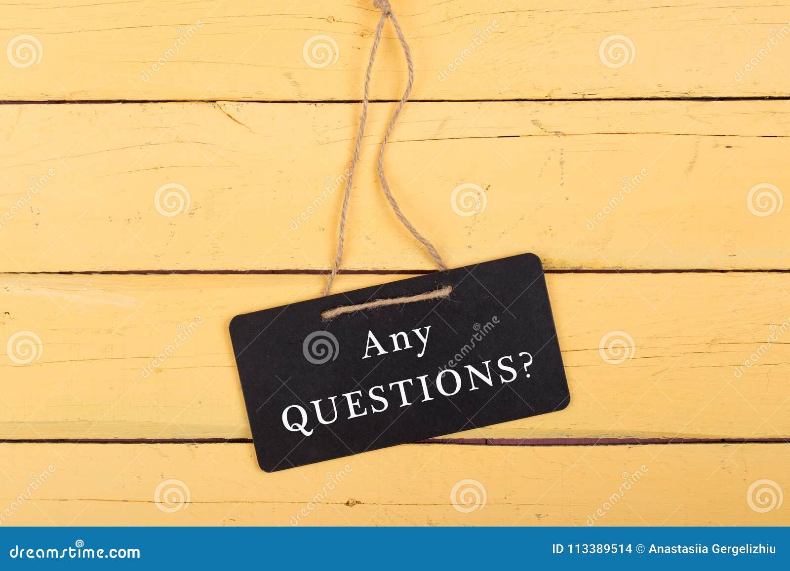 """Lavagne con l iscrizione """"delle domande? """""""