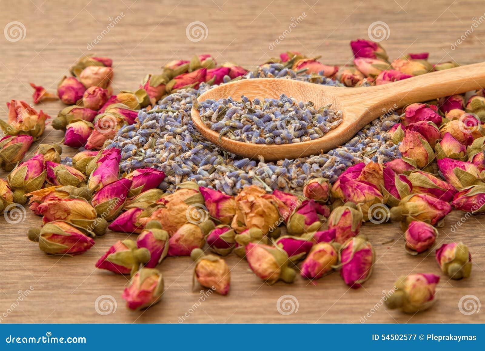 Lavande sèche et thé rose de fleur